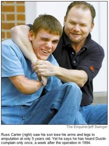 Dustin with his dad