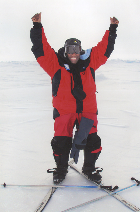 Photo of Hillary at North Pole