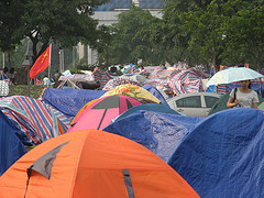 Tent city in Cheng Du