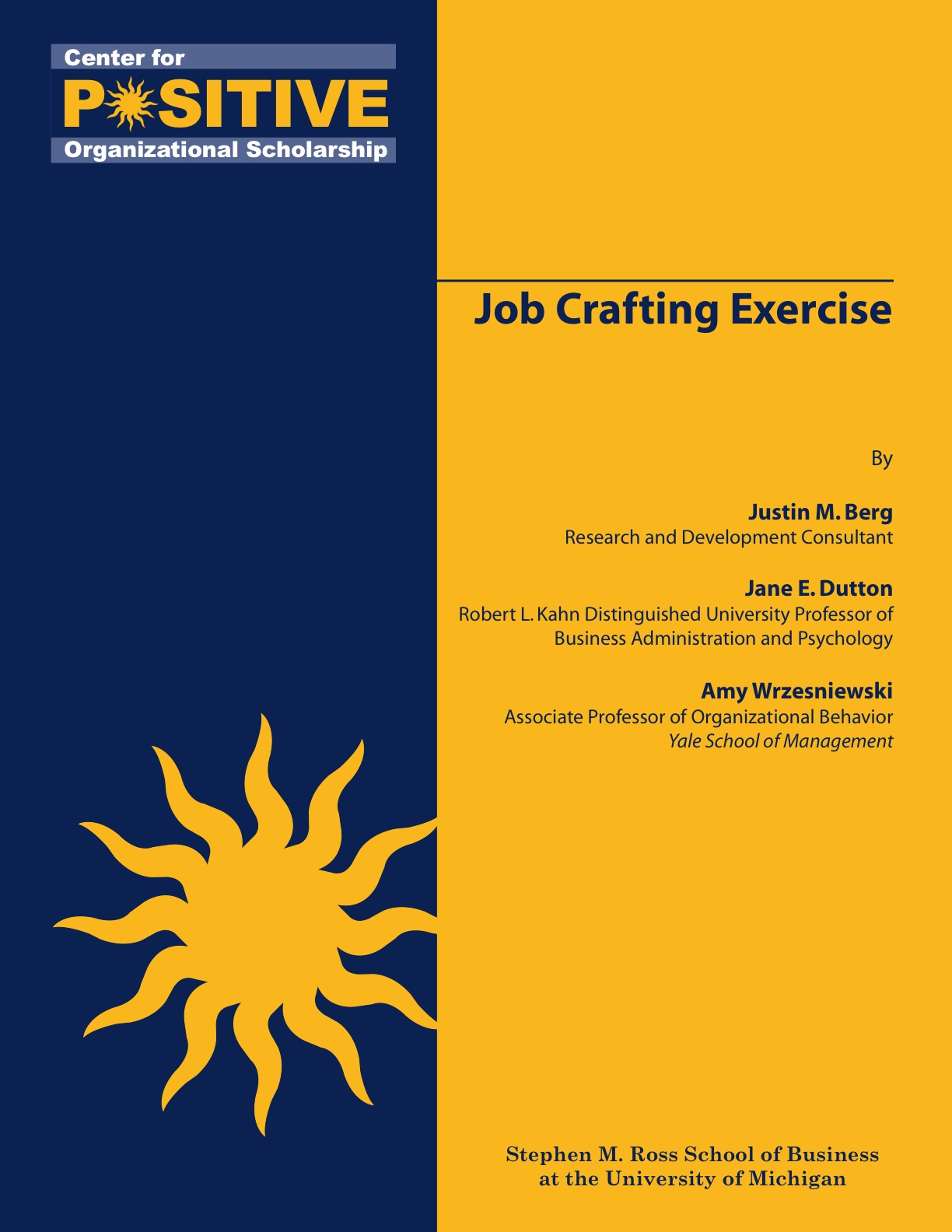 Job Crafting Exercise Cover