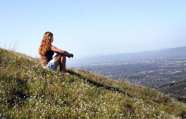 Girl at overlook - positive psychology news daily