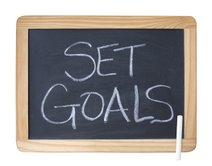 Set Goals sign