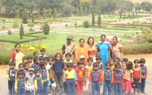 Suzie with Indian Children