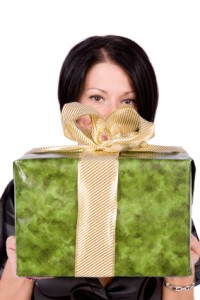 Woman with Present