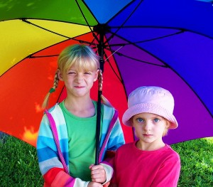 Girls under Umbrella