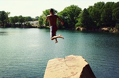 Swimming in a quarry