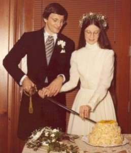 Cutting the Wedding Cake with My Uncle's sword