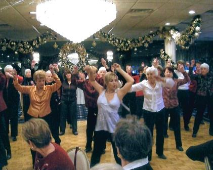 Elaine leading Senior Fitness Dancers