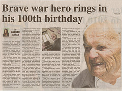 Brave war hero rings in his 100th birthday