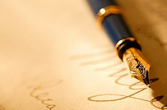 Writing a letter - or a promise