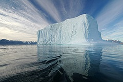 Iceberg, above and below water
