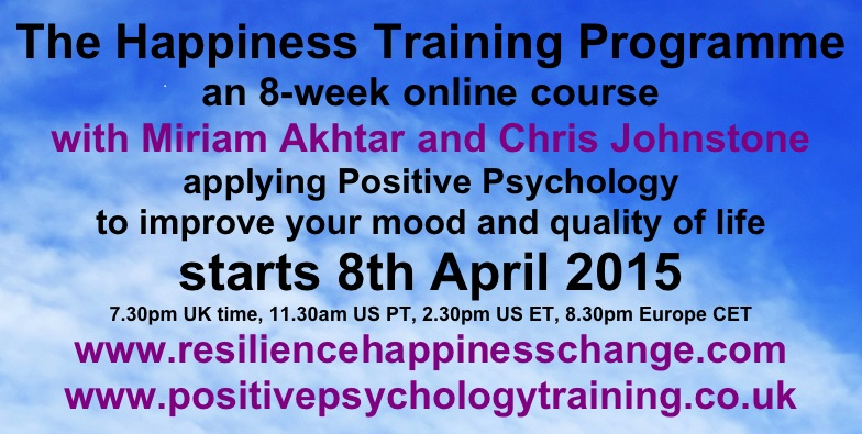 Click to sign up for the Happiness Training Program.