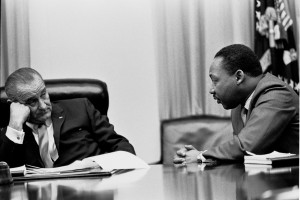 MLK Jr and LBJ