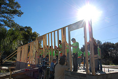 Habitat for Humanity framing a house