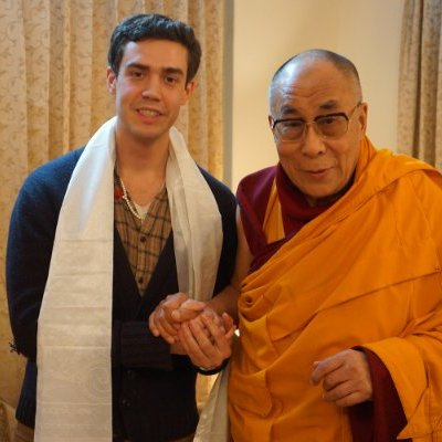 David Yaden with the Dalai Lama