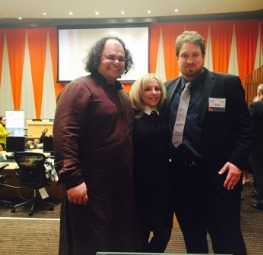 Kunal, Elaine, and Johannes Eichstaedt at the  Power of Collaboration congress at the UN, Spring 2016