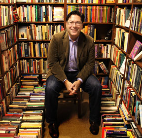 Shane Lopez with books