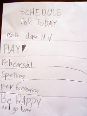 To do list including play!