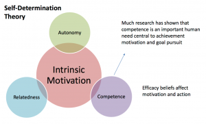 Self-efficacy connected to motivation