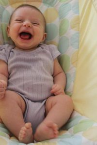 My laughing baby