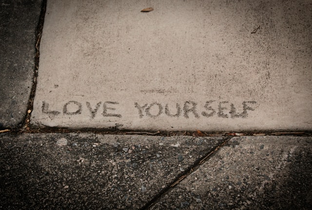 Love Yourself paving stone